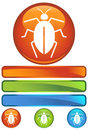 Orange Round Icon - Cockroach Royalty Free Stock Photo