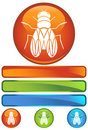 Orange Round Icon - Fly Royalty Free Stock Photo