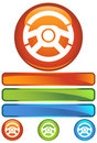 Orange Round Icon - Wheel Royalty Free Stock Photo