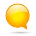 Orange round speech bubble Royalty Free Stock Photo