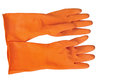 Orange Rubber Glove Royalty Free Stock Photos