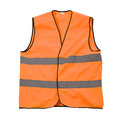 Orange safety jacket reflective isolated on a white background Stock Image