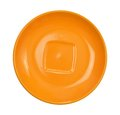 Orange saucer isolated on white background top view Stock Images
