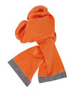 Orange scarf isolated on white Stock Photo