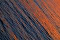 Orange Sea Waves At Sea Sunset