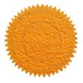 Orange seal Royalty Free Stock Photo