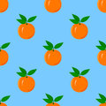 Orange seamless pattern with juicy fruit Stock Photography
