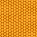 Orange and seamless pentagon background pattern