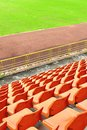 Orange seat in arena Royalty Free Stock Image