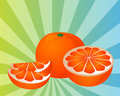 Orange sections illustration Stock Photo