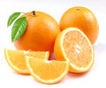 Orange with segments Royalty Free Stock Photography