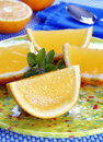 Orange shape jelly dessert Royalty Free Stock Images