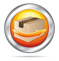 Orange shipping button Stock Photos