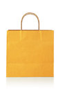 Orange shopping bag on a white background Royalty Free Stock Photos