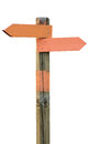 Orange signpost Royalty Free Stock Photo