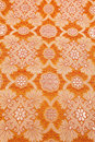 Orange silky background cloth Royalty Free Stock Images