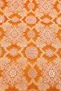 Orange silky background cloth Royalty Free Stock Photo