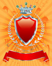 Orange silver crown Royalty Free Stock Photo