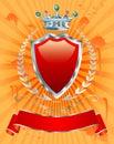 Orange silver crown Royalty Free Stock Photo