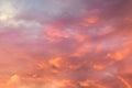 Orange sky background at sunset Royalty Free Stock Photo