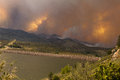 Orange Sky from the High Park Fire in Fort Collins Royalty Free Stock Photos