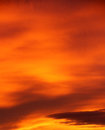 Orange sky sunset cloudy background Royalty Free Stock Photography