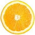 Orange slice (half) on a white. Royalty Free Stock Photo