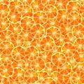 Orange slice seamless pattern watercolor