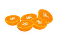 Orange sliced Stock Photos