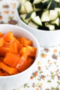 Orange sliced pepper Royalty Free Stock Image