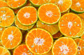 Orange slices cut oranges for juice Stock Images