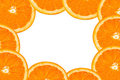 Orange slices frame Stock Photography