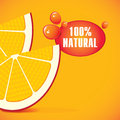 Orange slices fresh and two Royalty Free Stock Image