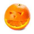An Orange with smiley face Stock Photo