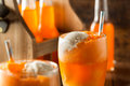 Orange Soda Creamsicle Ice Cream Float Royalty Free Stock Photo