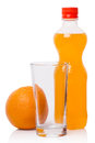 Orange soda and fruit Royalty Free Stock Images