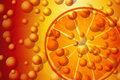 Orange soda graphic illustration of Stock Photography