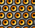 Orange speakers wall Royalty Free Stock Photos