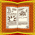 Orange spell book Stock Images