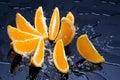 Oranžový v kaluž
