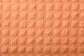 Orange sponge foam as background texture kitchen rubber Stock Images