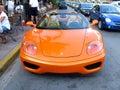Orange sport car Royalty Free Stock Photo