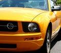 Orange Sports Car Royalty Free Stock Photo