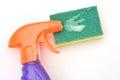 Orange spray bottle Royalty Free Stock Photo
