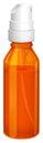 An orange spray bottle Royalty Free Stock Photo