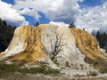 Orange Spring Mound Yellowstone Royalty Free Stock Photography