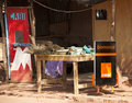Orange stall in Bamako Royalty Free Stock Photos