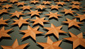 Orange stars background Royalty Free Stock Photo