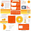 Orange stationary Royalty Free Stock Images