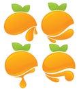 Orange stickers Royalty Free Stock Photo